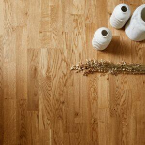 PURE - OAK RUSTIC TRES 3 Strips/προγυαλισμένα δάπεδα ξύλου