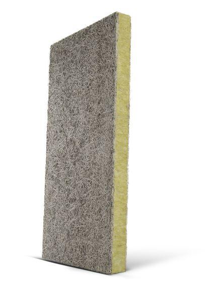 Θερμομονωτικές πλάκες ξυλόμαλλου με πυρήνα πετροβάμβακα